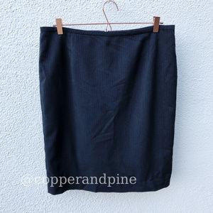 Calvin Klein Pinstripe Pencil Skirt